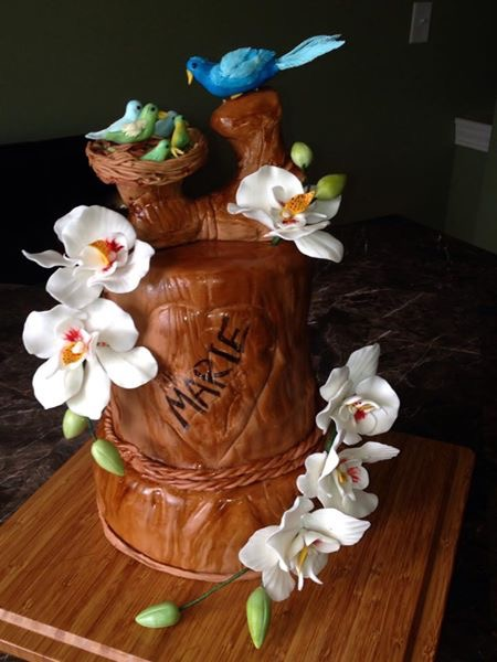 Nature themed cake