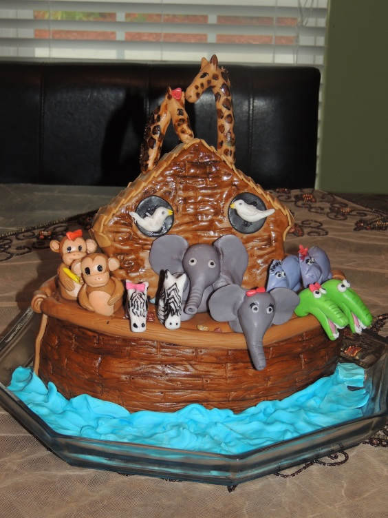 Noah and th Ark themed Cake